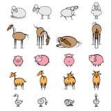 различное прожития фермы животных установленное иллюстрация вектора