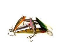 различное рыболовство некоторый wobbler стоковое фото
