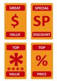 Различное собрание логотипов продажи стоковые изображения
