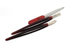 различно сделайте инструменты manicure вверх Стоковые Фотографии RF