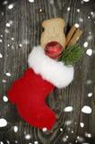 Различные виды украшения рождества стоковое фото rf