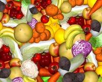 Различные виды фруктов и овощей Стоковые Фотографии RF