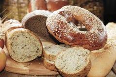 Различные виды хлеба Стоковое фото RF