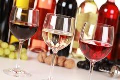 Различные вина Стоковое Изображение