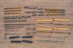 Различные винты и шпонки стоковое фото rf