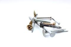 различные винты ногтей Стоковая Фотография RF