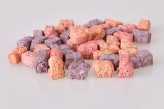 Различные витамины для детей на белой предпосылке стоковые изображения rf