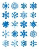 Различные голубые снежинки Стоковое Фото