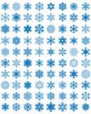 Различные голубые снежинки Стоковые Изображения RF