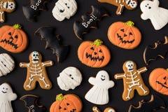 Различные декоративные печенья хеллоуина Стоковое фото RF
