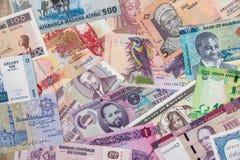 Различные деньги африканских стран стоковые фото