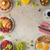 Различные завтраки стоковая фотография rf