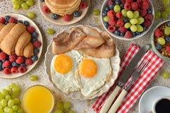 Различные завтраки стоковая фотография