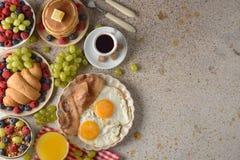 Различные завтраки стоковые фото