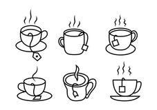 Различные изменения чертежей чашка бесплатная иллюстрация