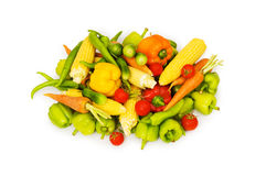 Различные изолированные овощи Стоковые Изображения RF