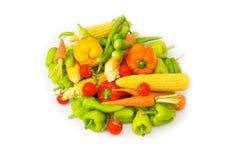Различные изолированные овощи Стоковое Фото