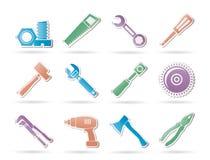 различные инструменты вида икон Стоковое Фото
