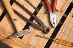 Различные инструменты для работы стоковая фотография