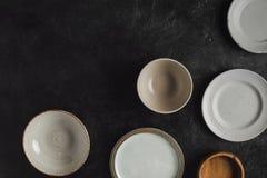 Различные керамические плиты Стоковая Фотография