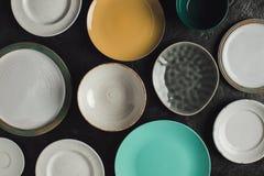 Различные керамические плиты Стоковое Фото