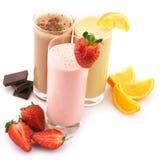 Различные коктеилы протеина Стоковые Изображения RF