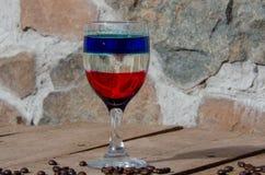 Различные коктейли с другими цветами стоковое изображение rf