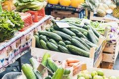 Различные красочные свежие овощи в рынке плода, Катании, Сицилии, Италии стоковая фотография rf
