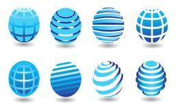Различные круглые форменные символы земли стоковые фото