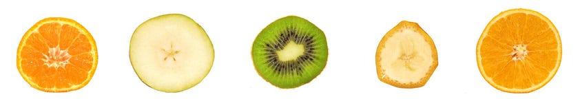 различные ломтики плодоовощ Стоковое фото RF