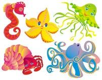 различные млекопитающие много море бесплатная иллюстрация