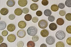 Различные монетки различных стран Стоковые Фотографии RF