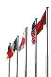 различные нации флагов Стоковые Фотографии RF