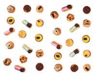 Различные печенья изолированные на белой предпосылке Стоковая Фотография RF
