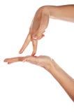 Различные руки и ладони знаков Стоковые Фото