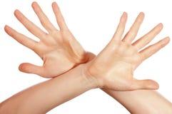 Различные руки и ладони знаков Стоковое Изображение