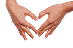 Различные руки и ладони знаков Стоковые Фотографии RF