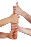 Различные руки и ладони знаков Стоковая Фотография