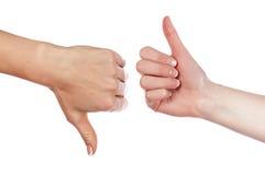 Различные руки и ладони знаков Стоковые Изображения