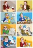 различные ситуации людей Бесплатная Иллюстрация