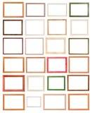Различные современные деревянные изолированные картинные рамки Стоковое фото RF
