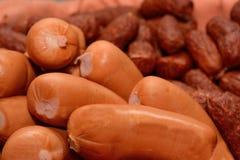Различные сосиски - сосиски конца-вверх Стоковое Фото