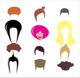 различные стили причёсок стильные Стоковые Фото