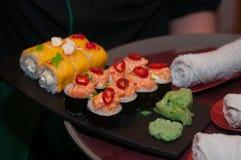 различные суши комплекта стоковое фото