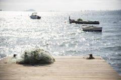 Различные съемки деревянной молы в повреждают Menor стоковая фотография