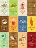 Различные тарелки Стоковая Фотография