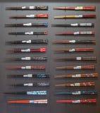 Различные типы палочек на продаже на магазине в Arashiyama стоковые фотографии rf