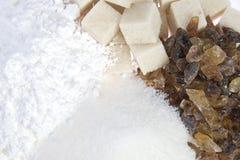 различные типы сахара стоковое фото rf