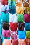 Различные ткани и цветы Стоковая Фотография