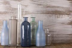 Различные установленные бутылки Стоковая Фотография